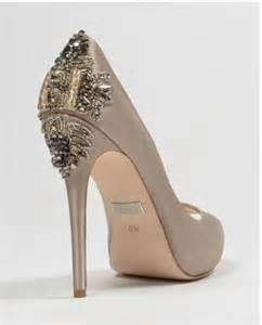 wedding shoes heels badgley mischka dree ii taupe high heels wedding shoes bridal 2042052 weddbook
