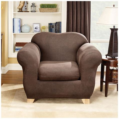 sure fit furniture covers sure fit stretch leather 2 pc chair slipcover 581247