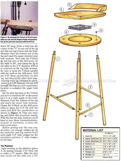swivel bar stool plans woodarchivist