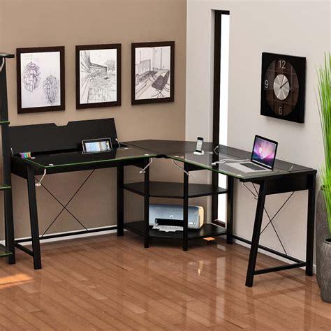 Z Line L Desk by Z Line Designs Vance Corner Desk With Storage Black