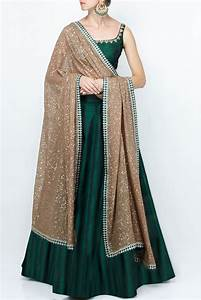 Salwar Suit Color Combination Chart Youdesign Raw Silk Anarkali Suit In Dark Green Colour Size