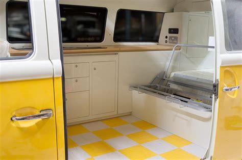 volkswagen van interior t2 bay window interior in vw pastel white oak