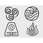 Airbender Avatar Elements Symbols Element Last Four