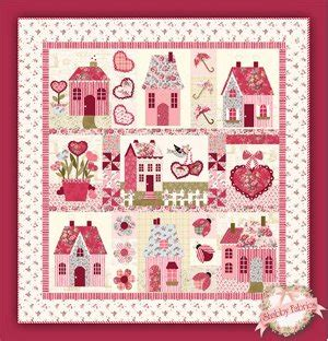 shabby fabrics applique sweetheart houses pattern from shabby fabrics favequilts com