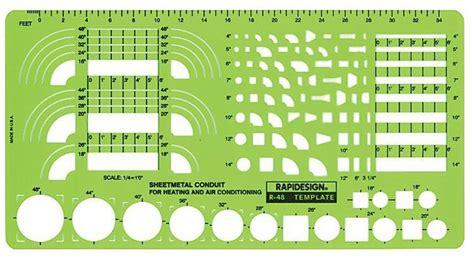 rapidesign   drafting template hvac sheet metal conduit
