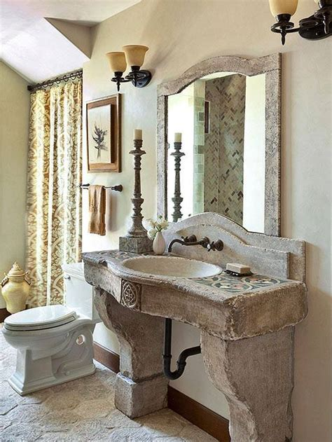 warm stone bathroom design ideas