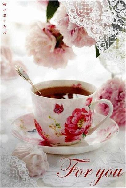 Morning Cup Tea Coffee Friends Quotes Animated