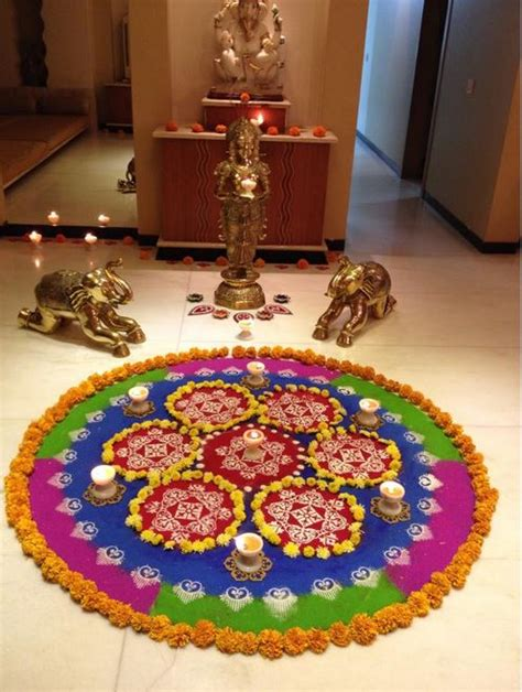 pooja room rangoli designs pooja room  rangoli designs