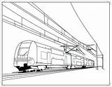 Train Coloring Pages Railroad Drawing Electric Crossing Cable Freight Bullet Passenger Caboose Trains Printable Metro Drawings Thomas Engine Speed Getdrawings sketch template