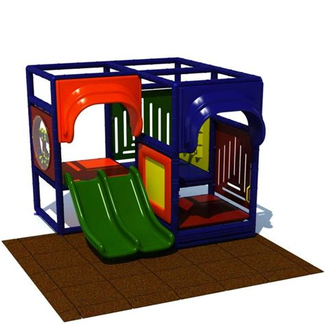 toddler 2 indoor play structure with rubber tiles aaa 935 | toddler2indoor long view 24683