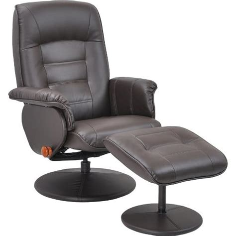 Benchmaster Swivel Chair And Ottoman by Benchmaster 7510 073 Reclining Swivel Brown Chair With
