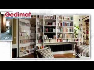 Bibliothèque Avec Porte : biblioth que avec porte magique gedimat ma maison s 39 agrandit se r nove youtube ~ Teatrodelosmanantiales.com Idées de Décoration