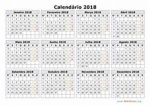 A seguir, há mais modelos de calendários de 2018 para