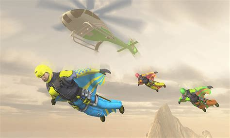wingsuit parachute simulator skydiving games  apk