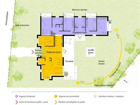 plan maison plain pied 3 chambre plan maison contemporaine toit plat ooreka