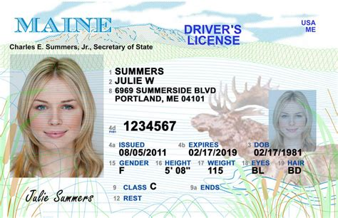 Maine New Driver's License Application And Renewal 2019