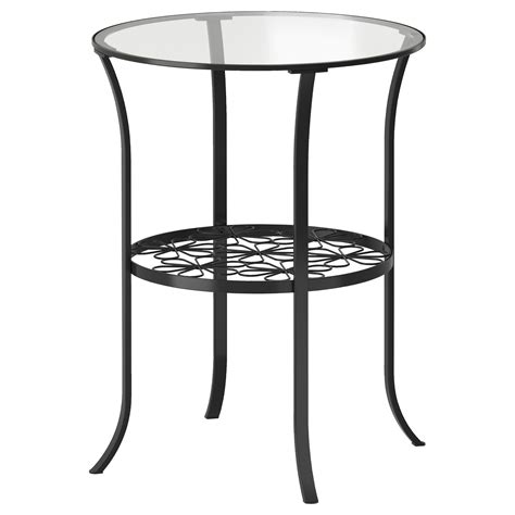 ikea coffee tables and end tables klingsbo side table black clear glass 49x60 cm ikea