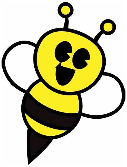 Bee Clipart Honey Bumble Bumblebee Happy Smiley