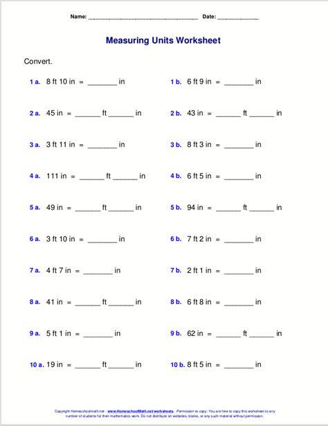 maths measuring worksheets kids math measurement