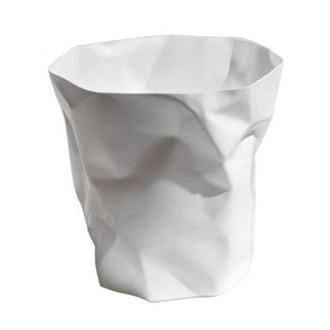 accessoire de bureau rigolo poubelle de bureau blanche design bin bin essey