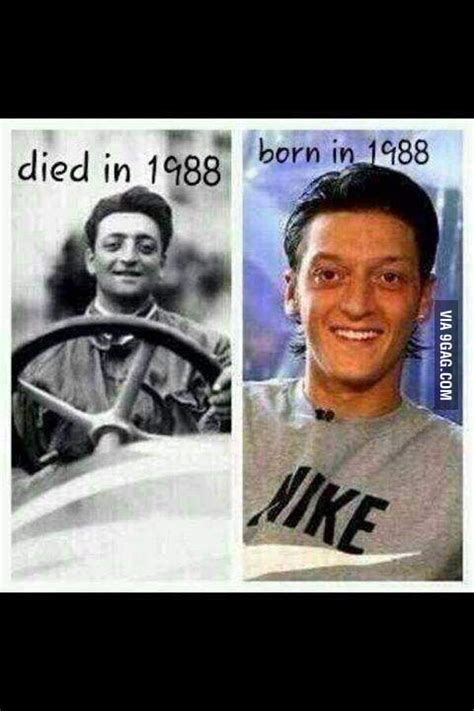enzo ferrari  mesut ozil mother  reincarnation gag
