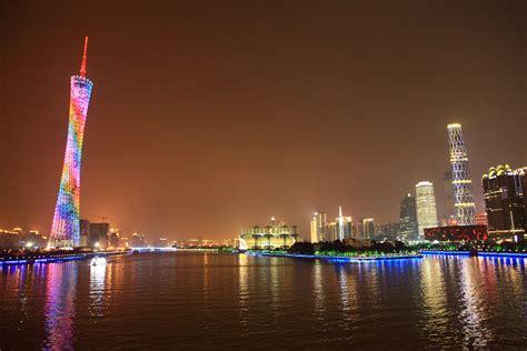 guangzhou skyline  night   view  liede