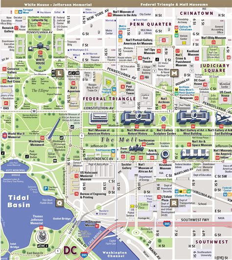 street map  washington dc  travel information
