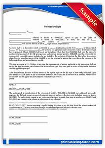 free printable promissory note form With free legal documents promissory note