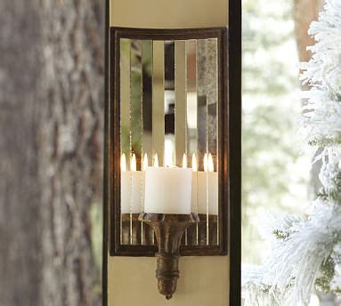 Candle Sconce Pottery Barn by Mirrored Candle Sconce Pottery Barn