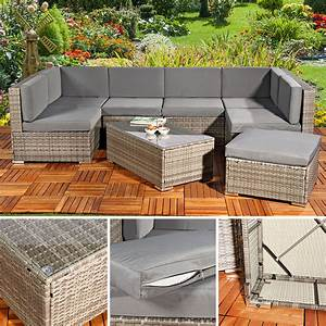 Polyrattan Lounge Grau : polyrattan sofa sitzgruppe lounge grau gartensofa real ~ Indierocktalk.com Haus und Dekorationen