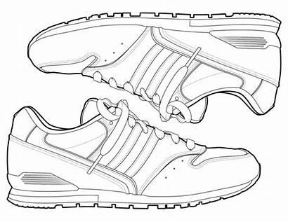 Coloring Shoe Shoes Pages Sneakers Jordan Nike