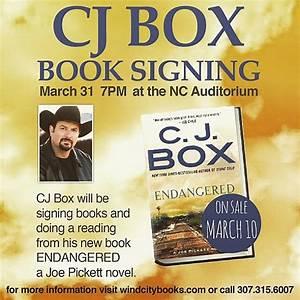 Wyoming Author C.J. Box Book Tour Includes Casper Stop