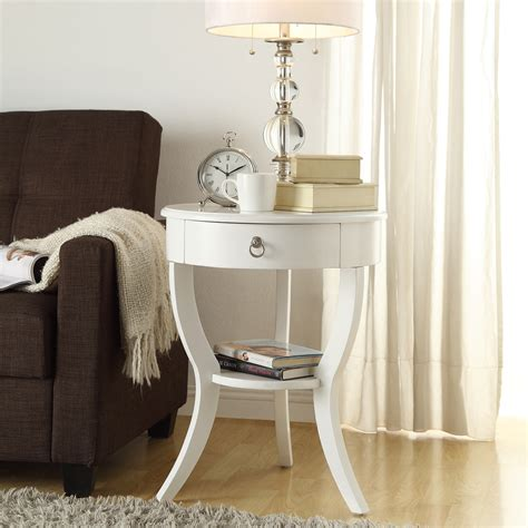 Building Bedroom End Tables by Oxford Creek Hastings White Accent Table Light Finish