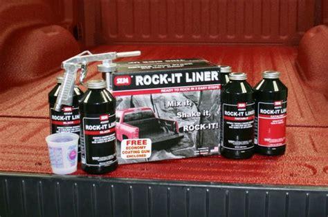 Tintable Bed Liner by Sem Truck Bed Coating Black Rock It Liner Kit Urethane 2k