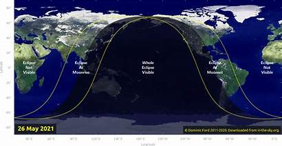 Lunar Eclipse Eclipses Total Sky Map Where