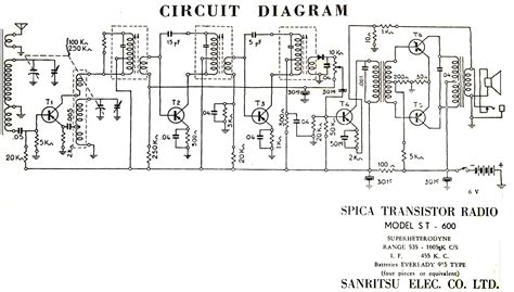 circuito de la radio spica st 600 electr 243 nica b 225 sica