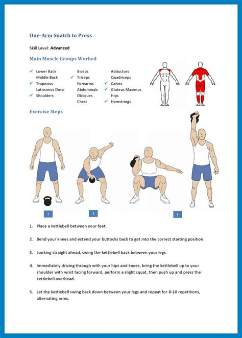 kettlebell muscle snatch arm press exercise lower worked groups workout main workouts swings middle exercises trapezius training squat kettle windmill