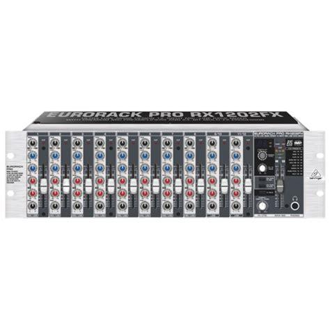 rack mount audio mixer behringer 19 quot rack mountable audio mixer rx1202fx cd