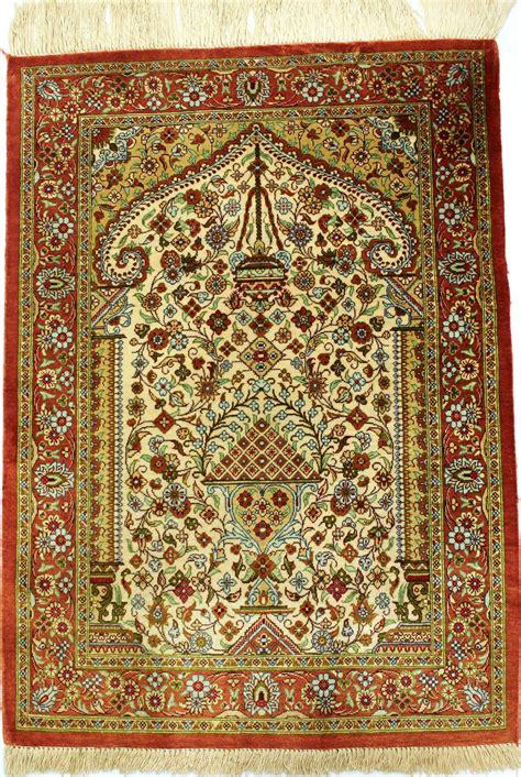 tapis persan ghoum soie  gobelins tapis