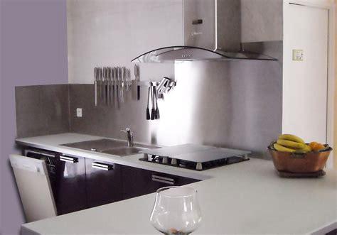 cuisine credence inox espace cuisine atelier du sur mesure