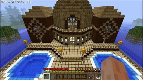 minecraft explaining    build  wooden mansion episode  youtube