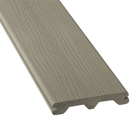 veranda  ft hp composite capped grooved decking grey  home depot canada