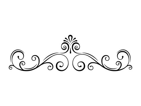 Decorative Swirls - page border svg swirl decorative filigree divider scroll