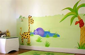 deco chambre bebe theme jungle With exemple de decoration de jardin 4 deco chambre bebe jungle