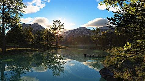 Beauty Cool Season Lake  Nature Lakes Hd Desktop Wallpaper