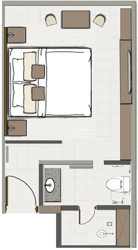Foundation Dezin & Decor Hotel Room Plans & Layouts