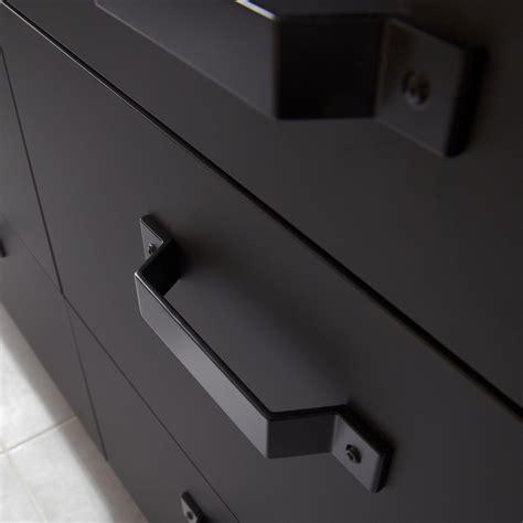 cuisine type industriel porte sous évier de cuisine noir fs45 mat edition l45 x