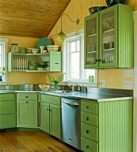green color kitchen small kitchen designs in yellow and green colors 1358