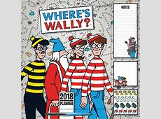 Where's Wally Family Planner 2018 Square Wall Carousel
