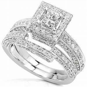 1 cheap 1 1 4ctw princess diamond wedding rings set in With discount diamond wedding ring sets